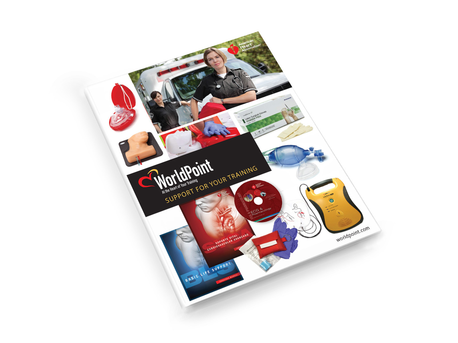 WorldPoint American Heart Association healthcare catalog design