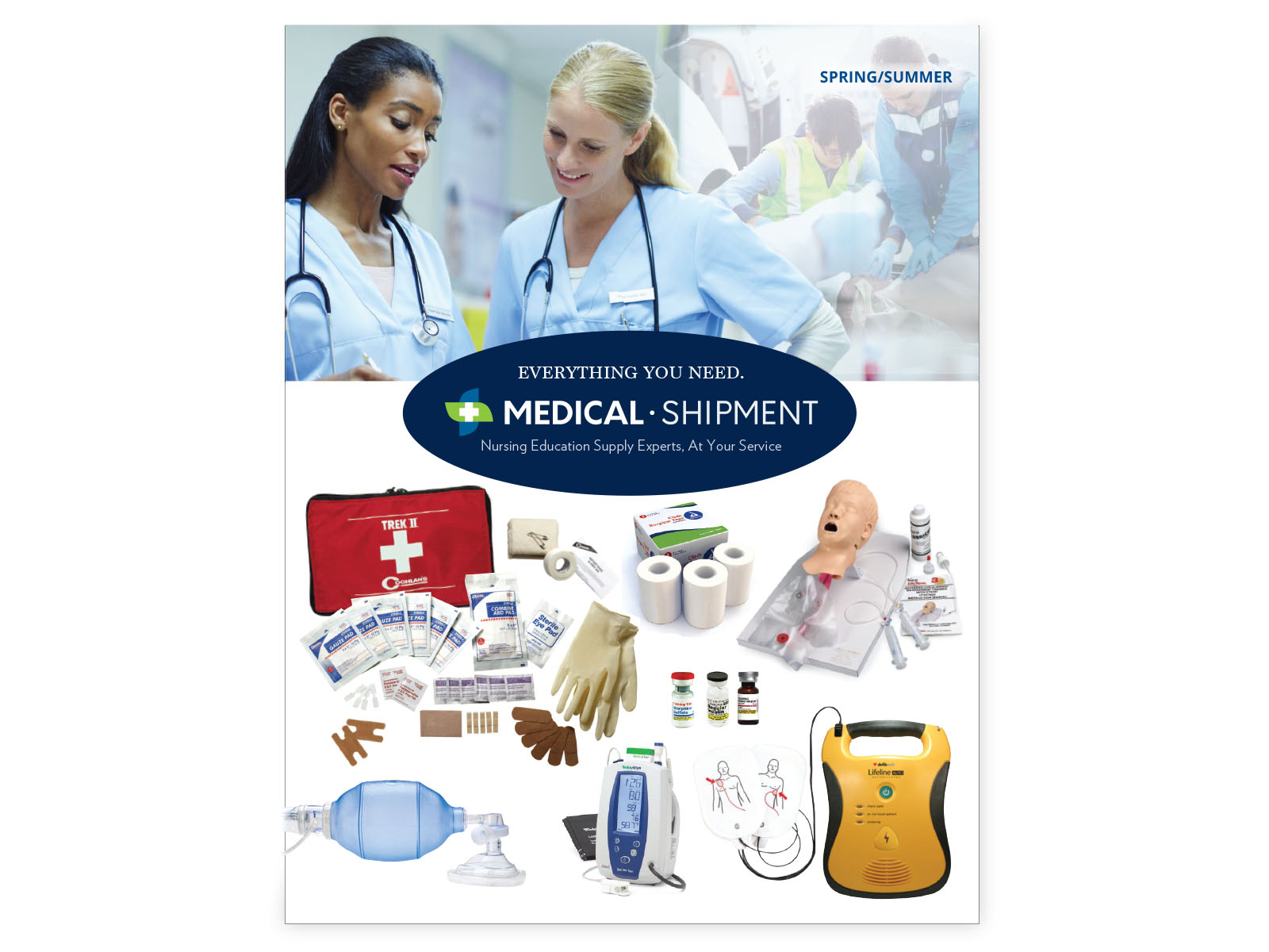 Medical Shipment catalog design