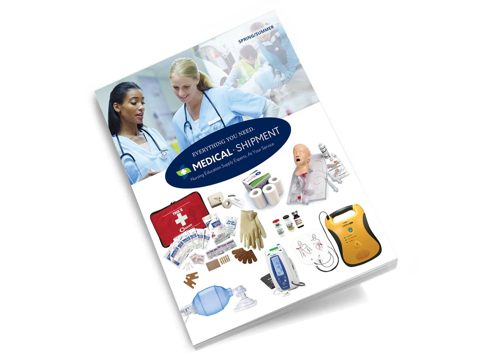 medical shipment catalog design print design